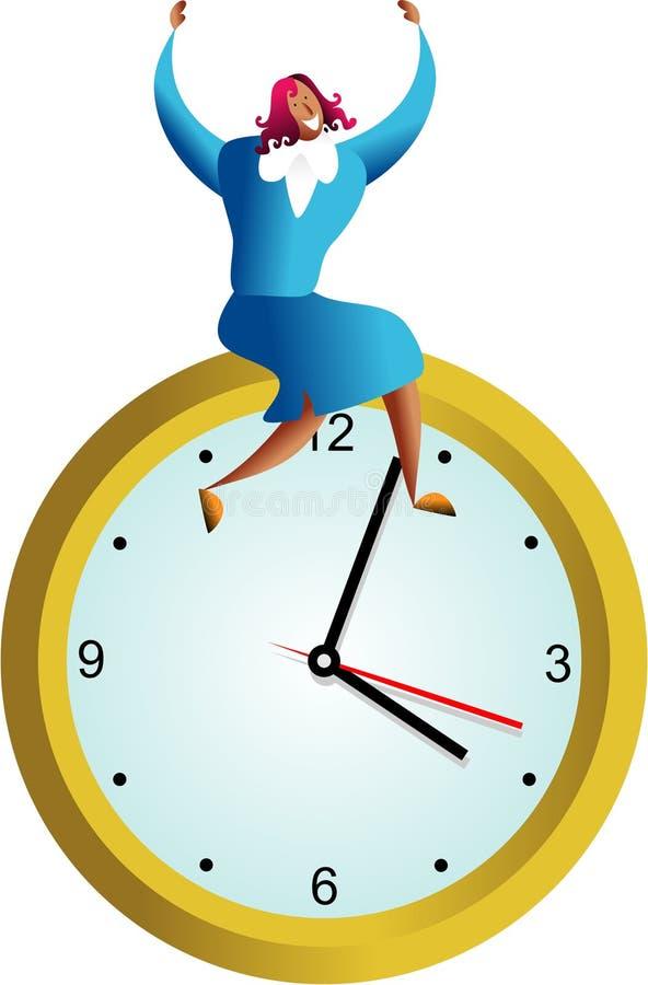 Éxito del tiempo stock de ilustración
