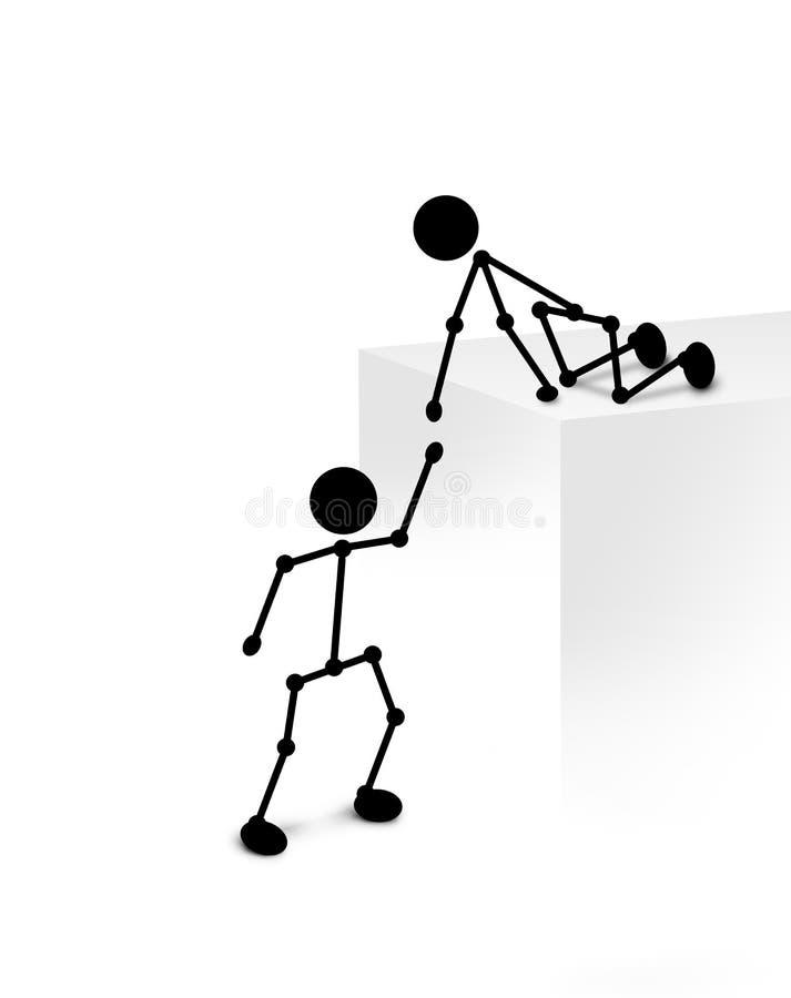 Éxito del trabajo en equipo stock de ilustración