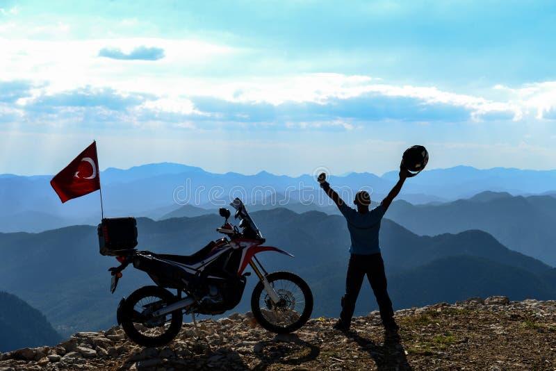 Éxito del viaje y del transporte en motocicleta fotos de archivo