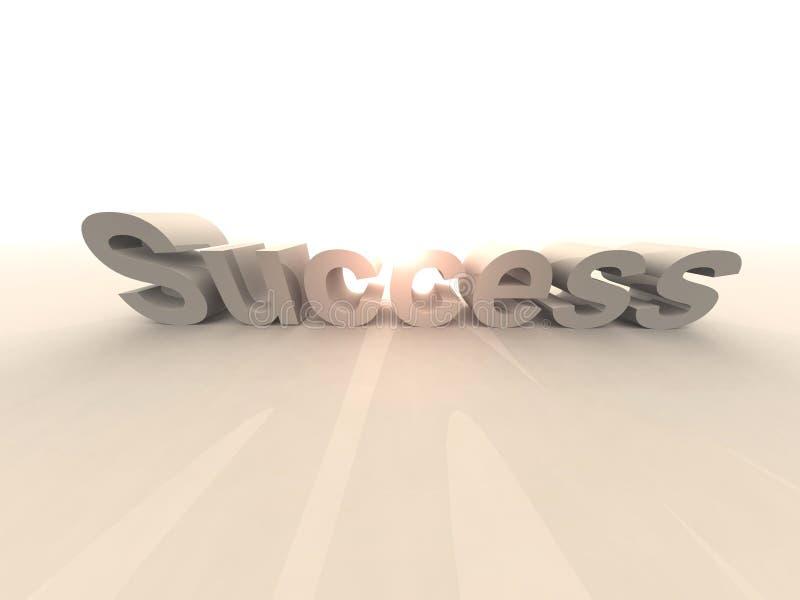 Éxito - deslumbrándose stock de ilustración