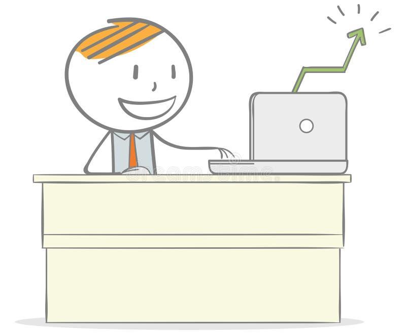 Éxito empresarial ilustración del vector