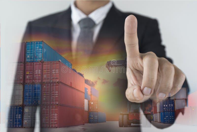 Éxito empresarial de la logística en concepto del negocio foto de archivo