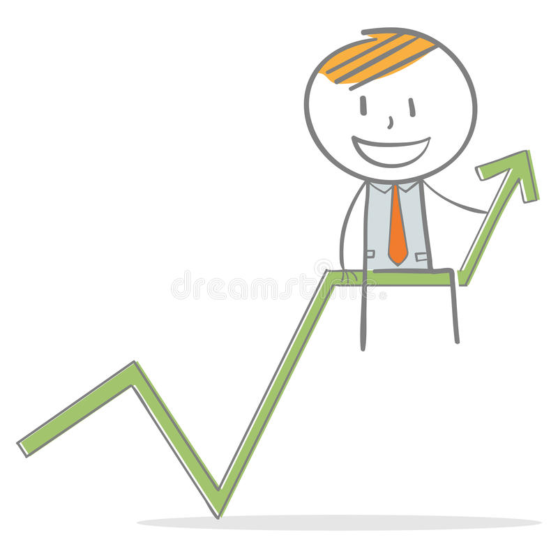 Éxito en negocio libre illustration