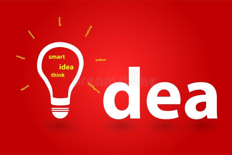 Éxito en negocio con una idea fresca innovadora  ilustración del vector