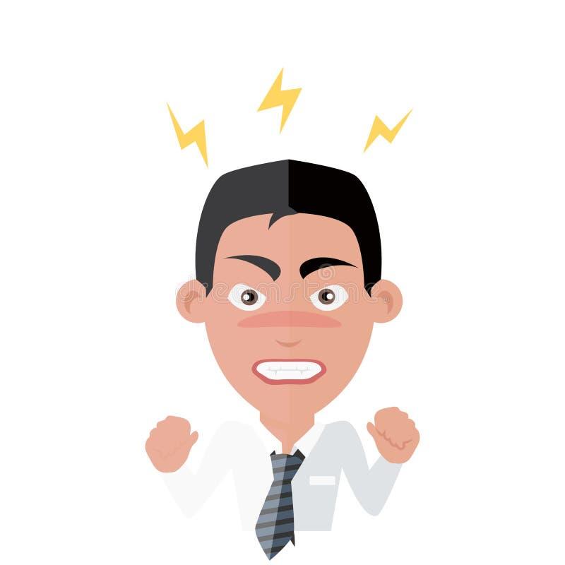 Éxito enojado del hombre de Avatar de la emoción libre illustration