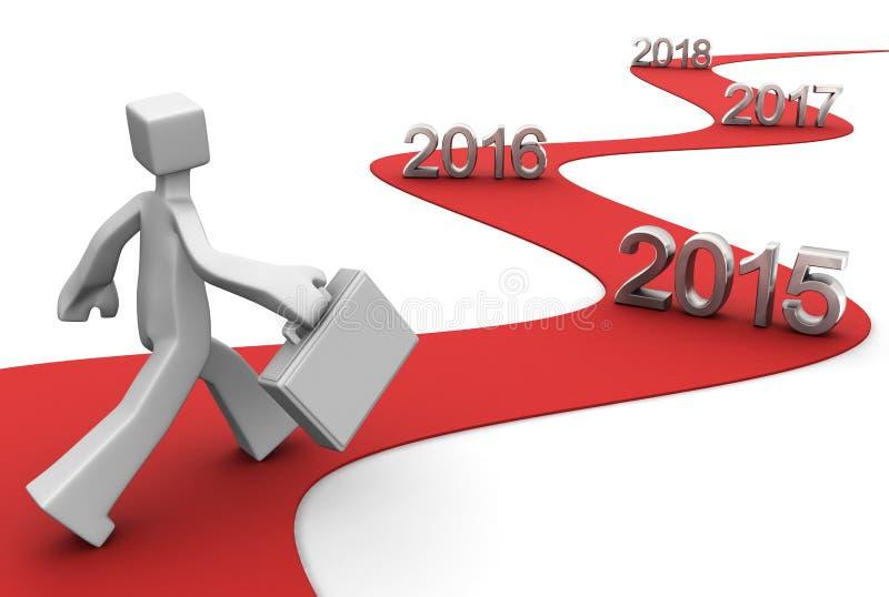 Éxito futuro brillante 2015 ilustración del vector