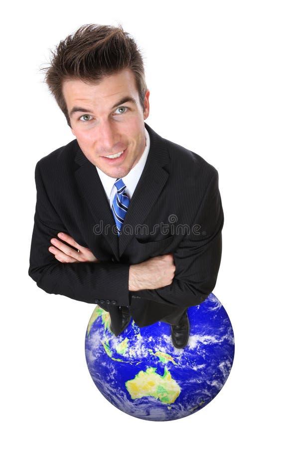 Éxito global del hombre de negocios imagen de archivo libre de regalías