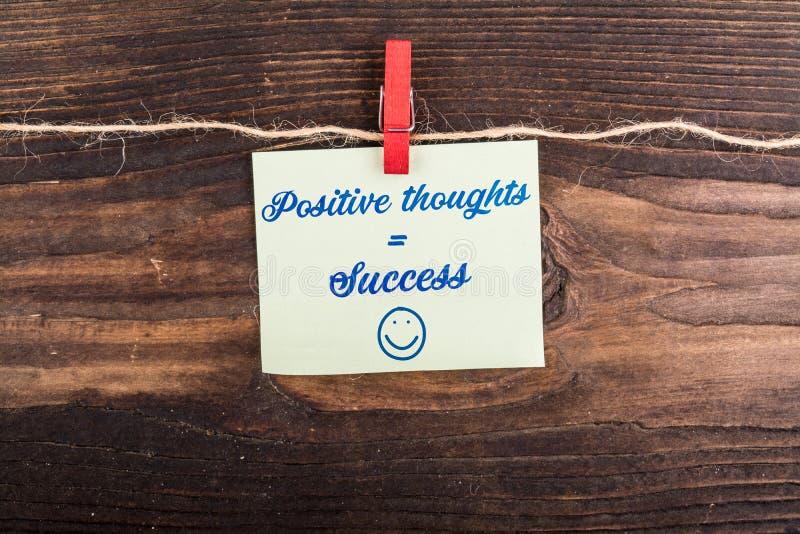Éxito igual de los pensamientos positivos imágenes de archivo libres de regalías