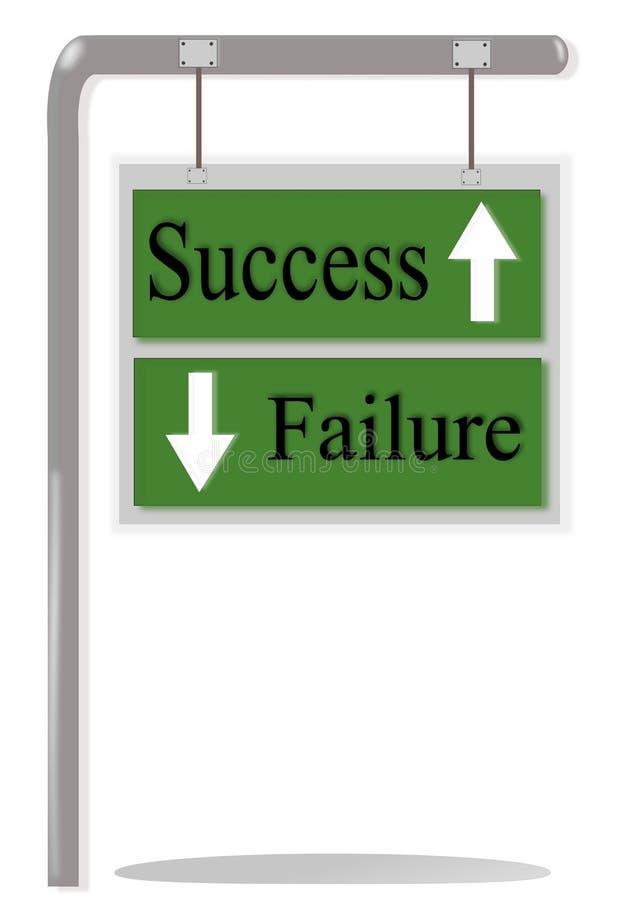 Éxito o fracaso ilustración del vector
