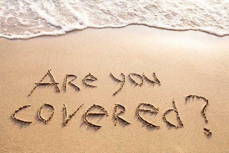 Êtes vous avez couvert, concept d'assurance de voyage images libres de droits