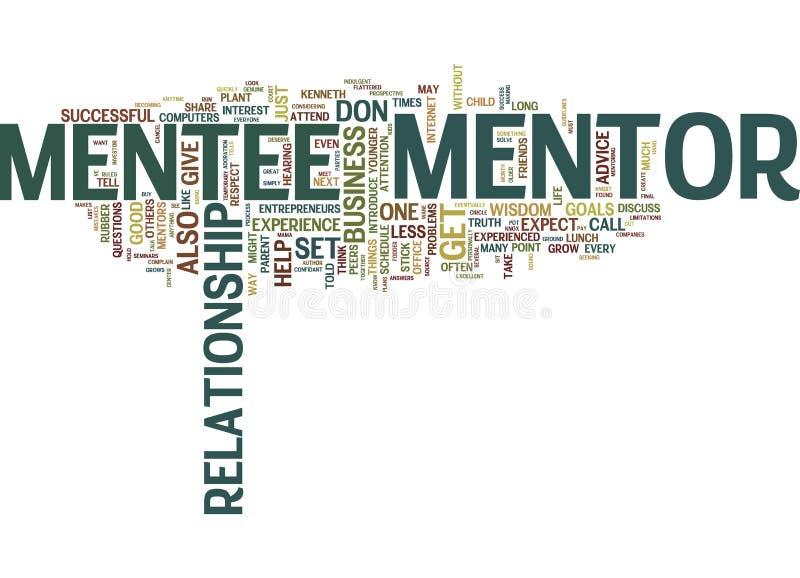 Êtes vous concept matériel de nuage de Word de mentor illustration libre de droits