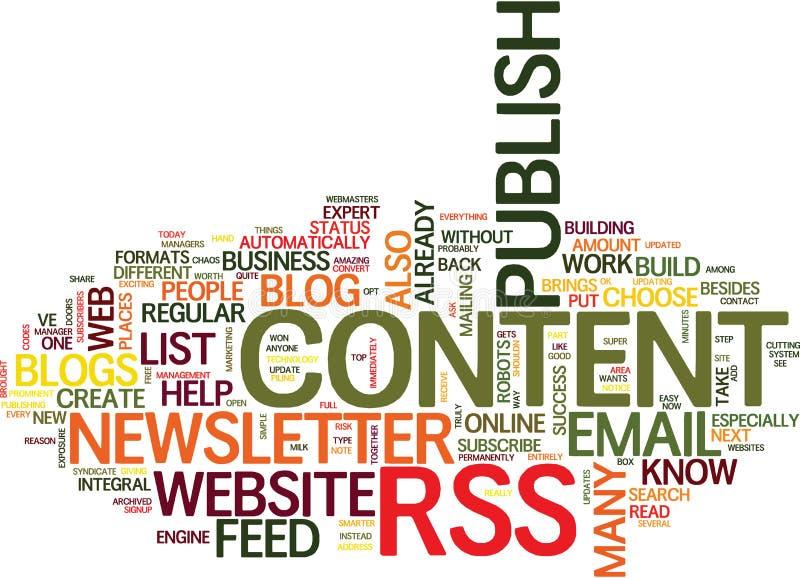 Êtes vous en danger de concept de nuage de Word de chaos de contenu Web illustration stock