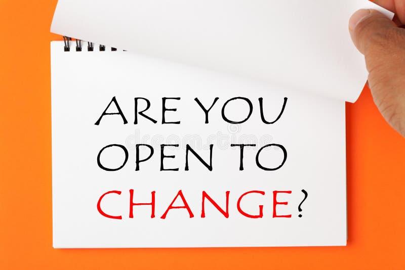 Êtes vous vous ouvrez au changement photo libre de droits