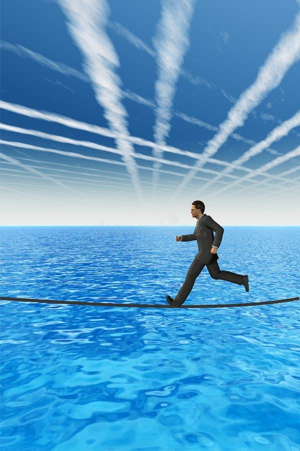 Être humain 3D de haute résolution sur une corde illustration stock