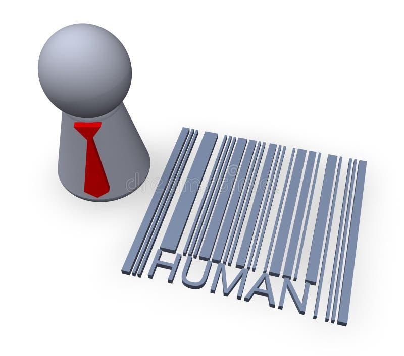 Être humain de code barres illustration de vecteur