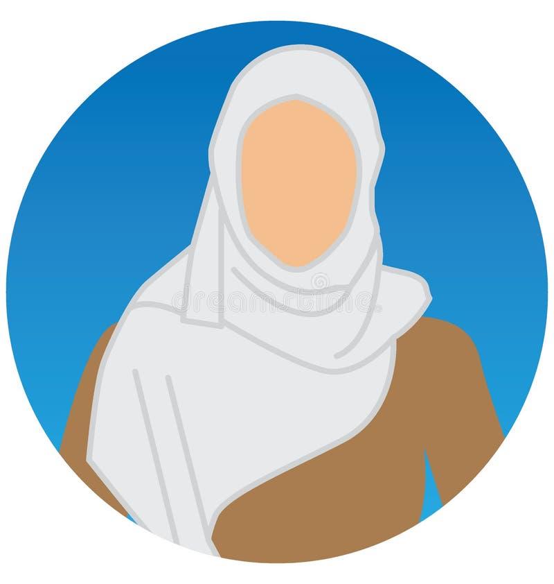 Ícone árabe da ilustração do vetor das mulheres que pode facilmente alterar ou editar ilustração stock