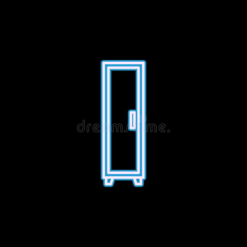 ícone único-voado do vestuário no estilo de néon Um do ícone da coleção da mobília pode ser usado para UI, UX ilustração do vetor