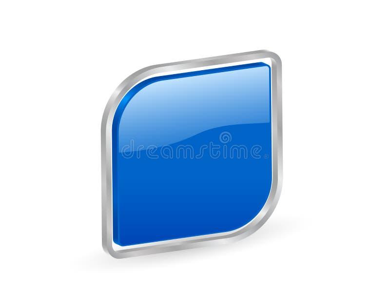 ícone 3d azul com contorno ilustração royalty free