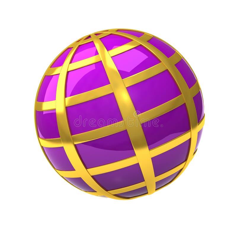 Ícone 3d do globo ilustração stock