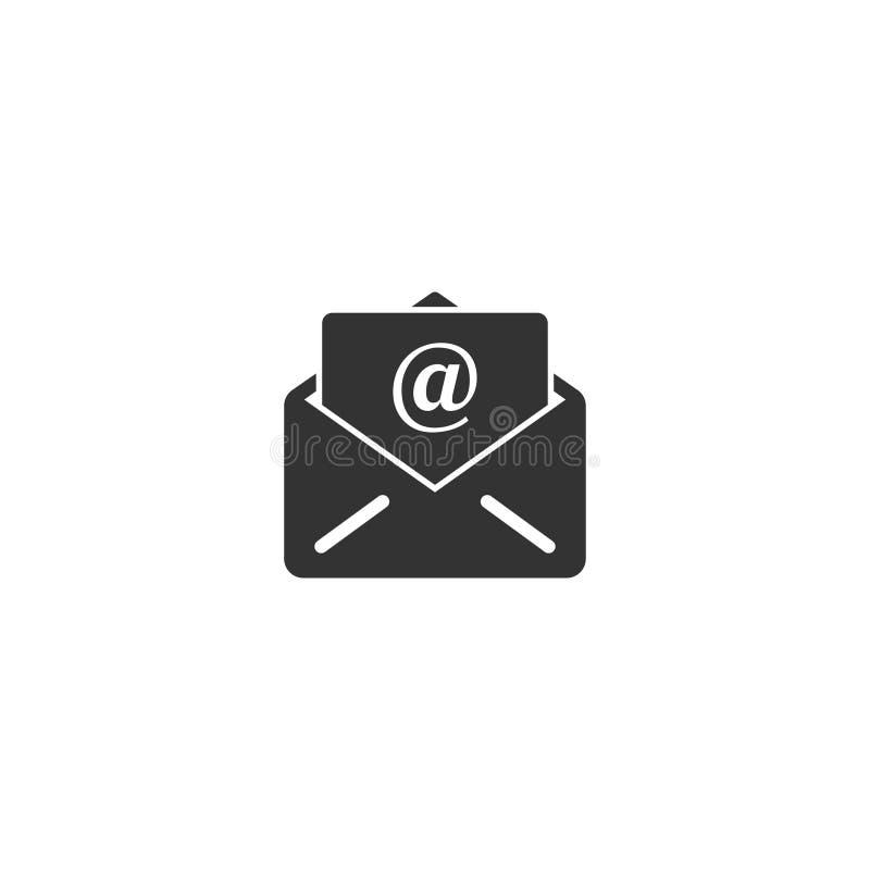Ícone aberto do e-mail no projeto simples Ilustração do vetor ilustração do vetor