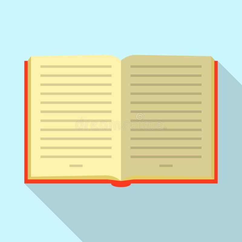 Ícone aberto do livro, estilo liso ilustração do vetor
