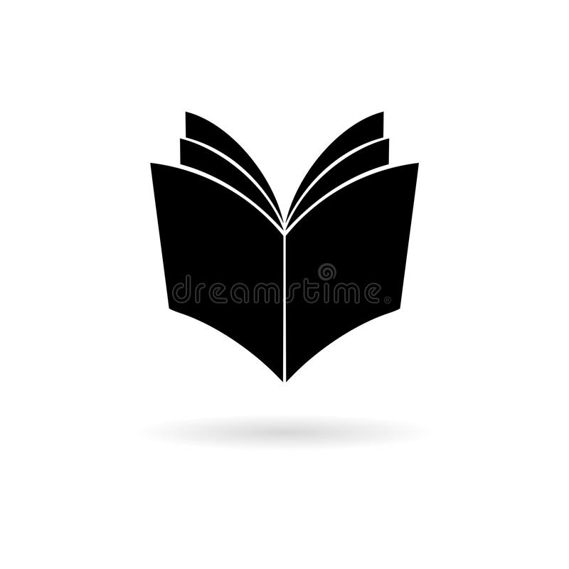 Ícone aberto do livro do preto ilustração royalty free