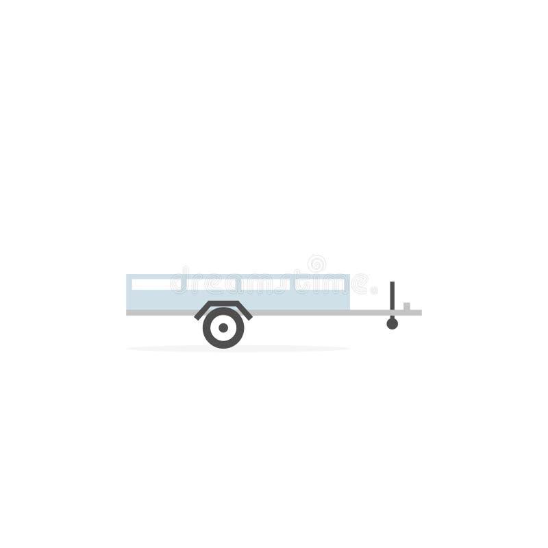 Ícone aberto do reboque do carro ilustração do vetor