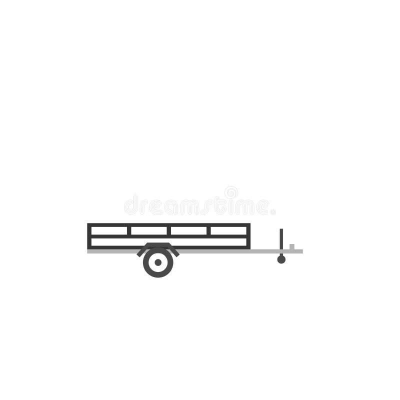 Ícone aberto do reboque do carro ilustração stock