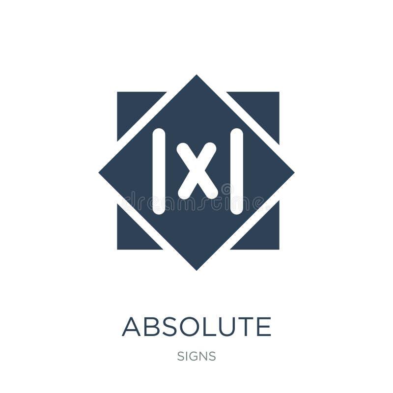 ícone absoluto no estilo na moda do projeto ícone absoluto isolado no fundo branco plano simples e moderno do ícone do vetor abso ilustração do vetor