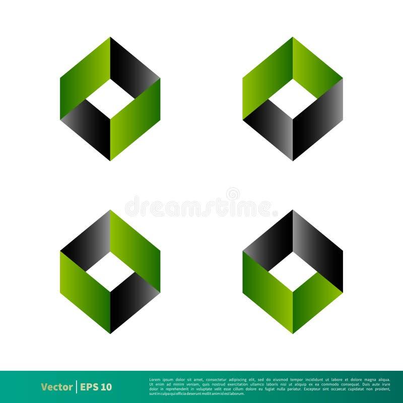 Ícone abstrato 3D Logo Template Illustration Design Vetor EPS 10 ilustração do vetor