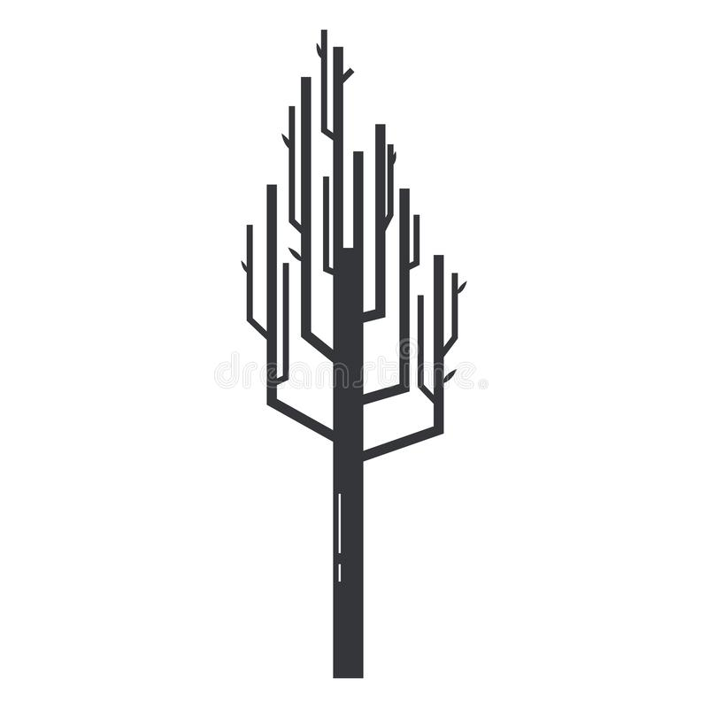 Ícone abstrato da árvore no estilo simples ilustração do vetor