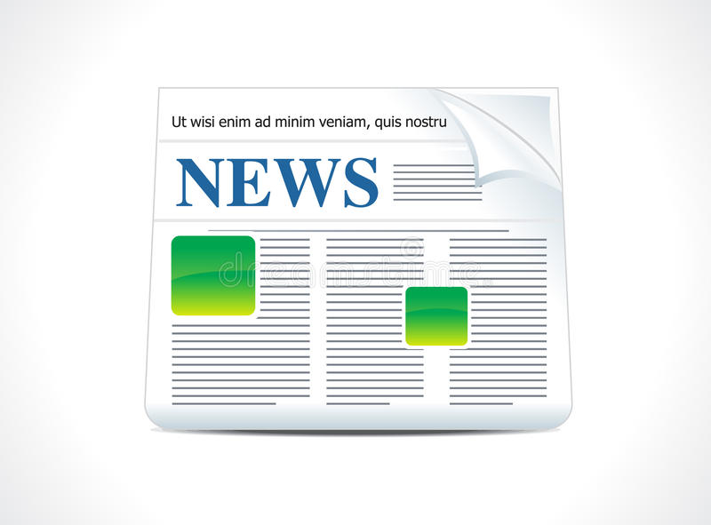 Ícone abstrato da notícia ilustração do vetor
