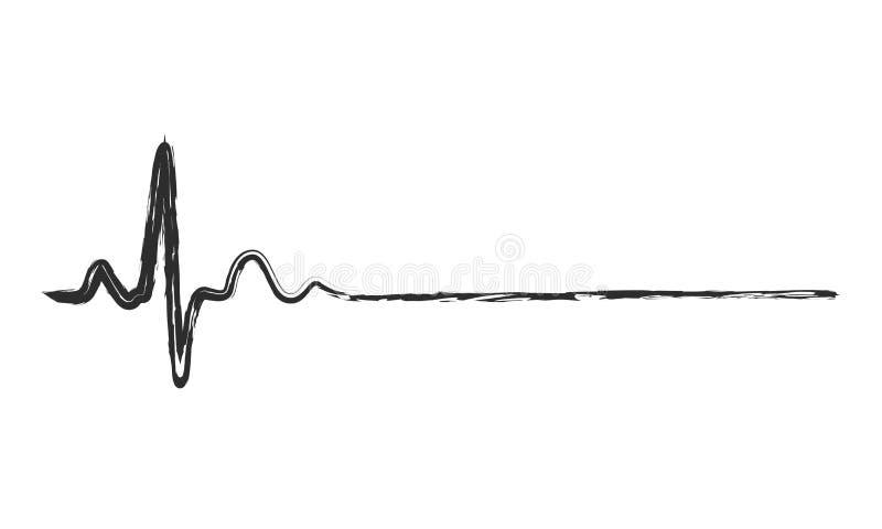 Ícone abstrato da pulsação do coração Ilustração do vetor ilustração royalty free