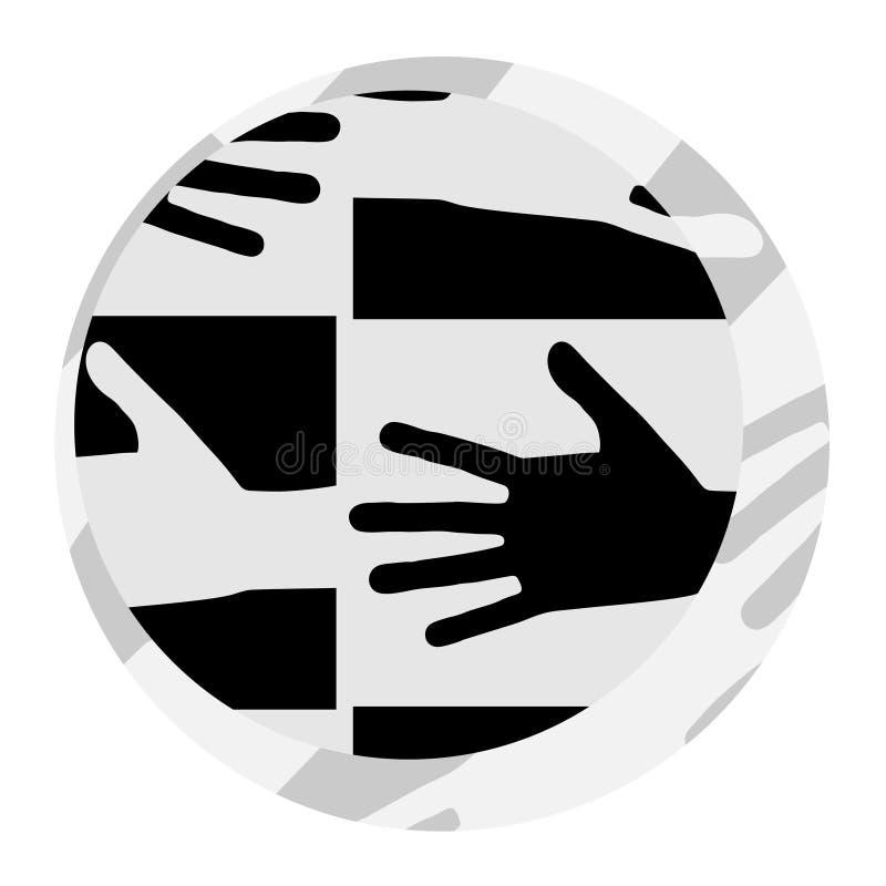 Ícone abstrato da solidariedade ilustração royalty free