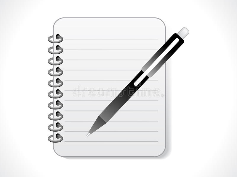Ícone abstrato do bloco de notas ilustração do vetor