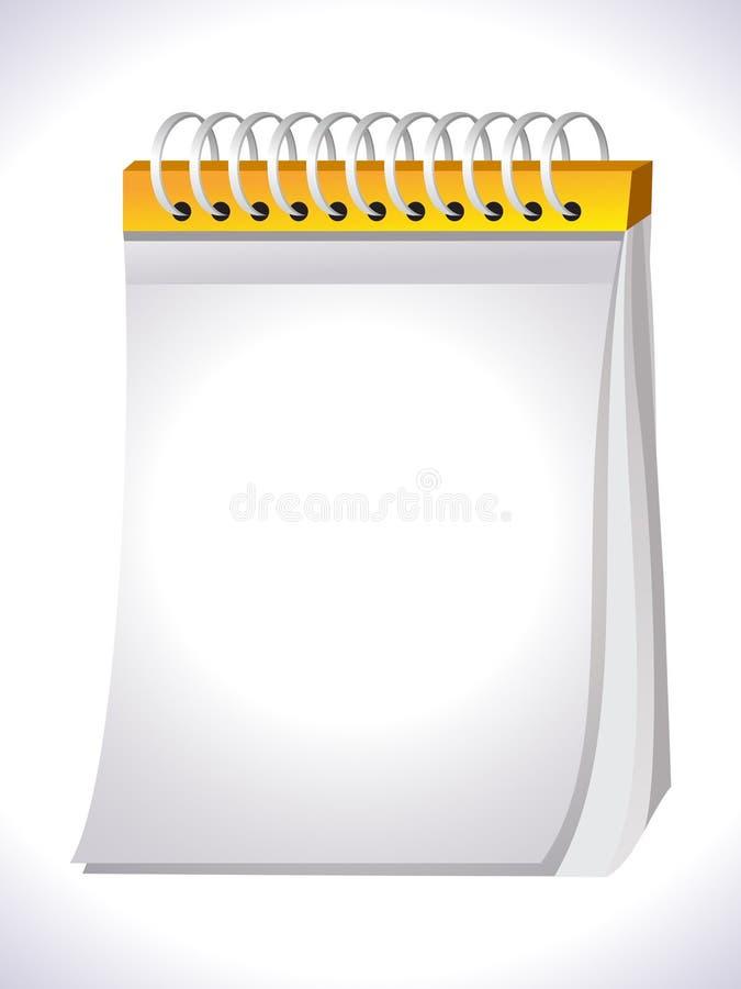 Ícone abstrato do caderno ilustração stock