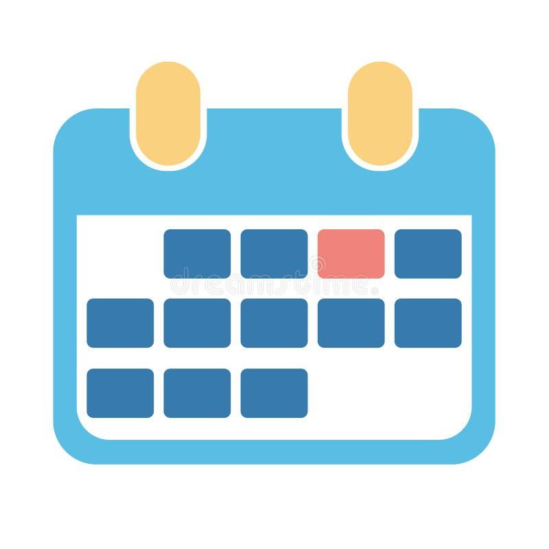 Ícone abstrato do calendário do projeto para o negócio ilustração royalty free