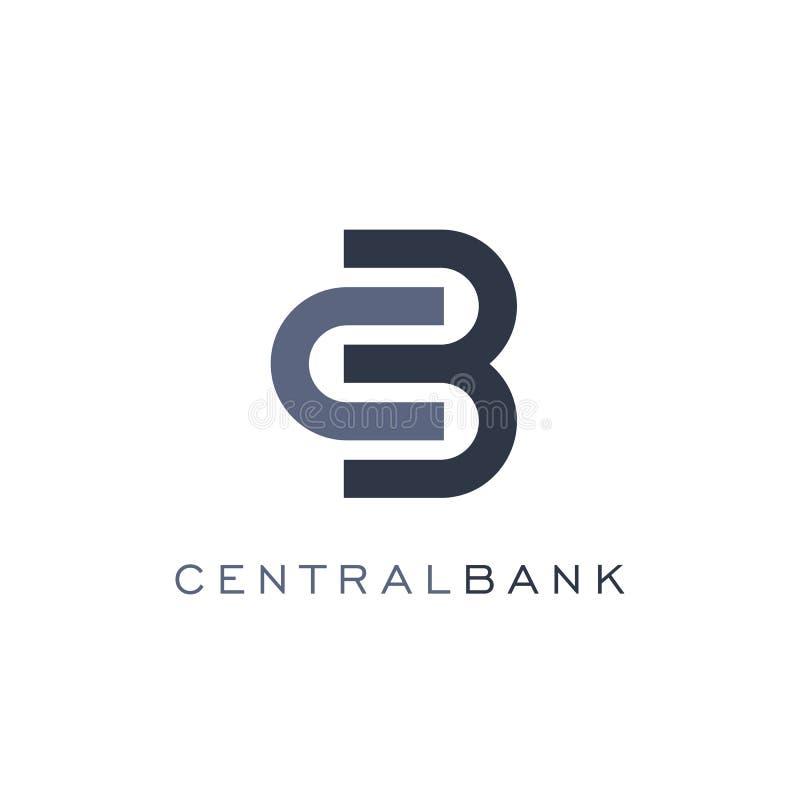 Ícone abstrato do fechamento, estilo linear, molde do logotipo do vetor do banco Operações da troca e da finança de moeda ilustração stock