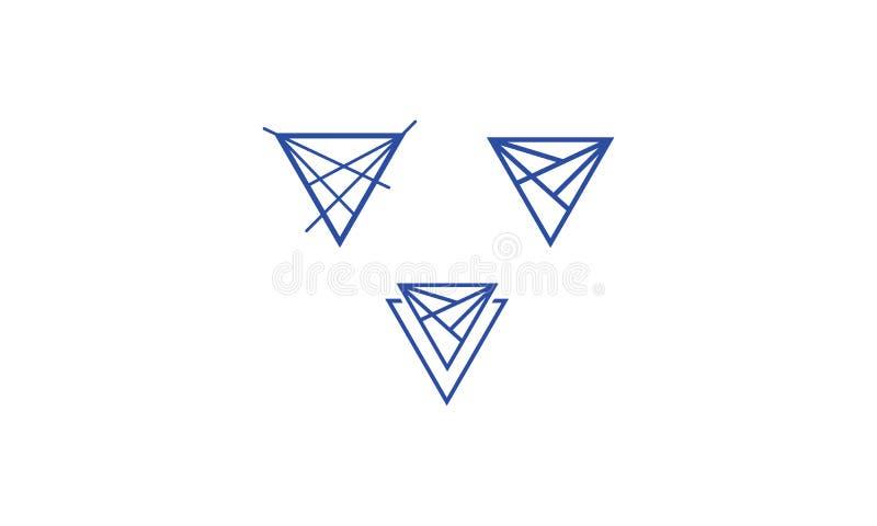 ícone abstrato do vetor do logotipo do triângulo ilustração stock