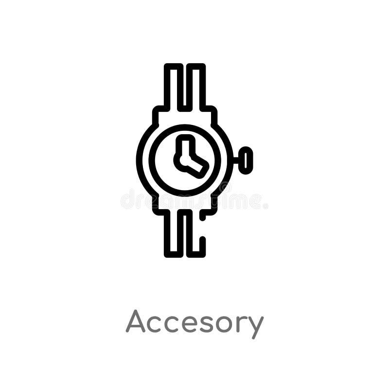 ícone accesory do vetor do esboço linha simples preta isolada ilustração do elemento do conceito da forma Curso editável do vetor ilustração royalty free
