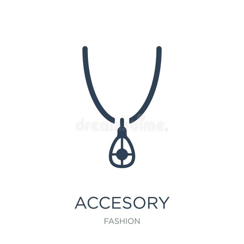 ícone accesory no estilo na moda do projeto ícone accesory isolado no fundo branco plano simples e moderno do ícone accesory do v ilustração stock