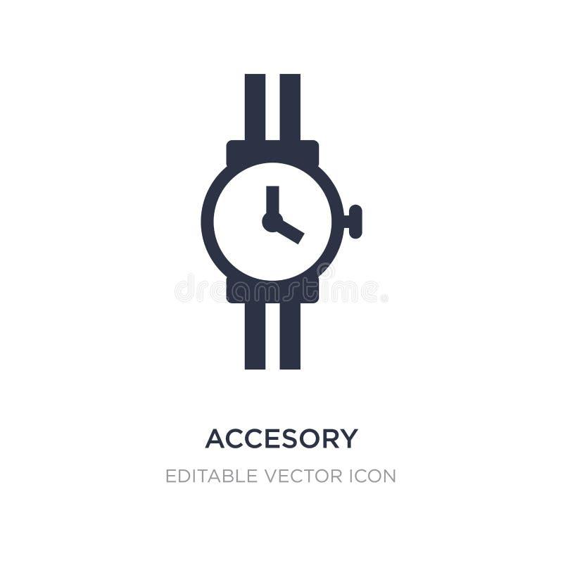 ícone accesory no fundo branco Ilustração simples do elemento do conceito da forma ilustração royalty free