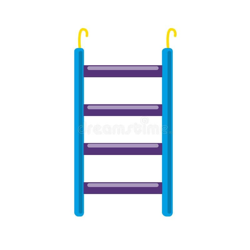 Ícone acessório da escada do pássaro no estilo liso ilustração royalty free