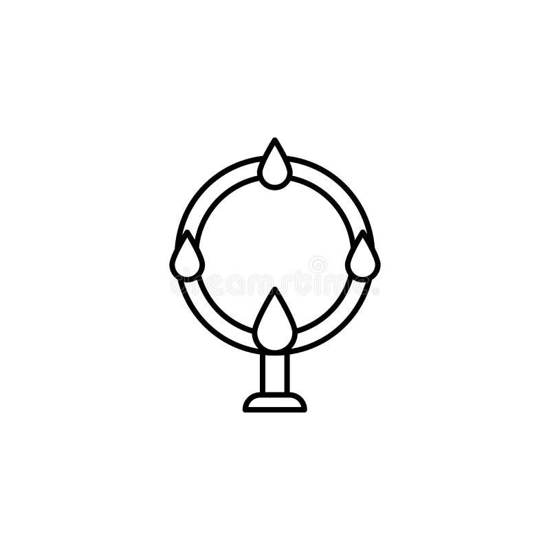 Ícone acrobático mágico do esboço Os sinais e os símbolos podem ser usados para a Web, logotipo, app móvel, UI, UX ilustração royalty free