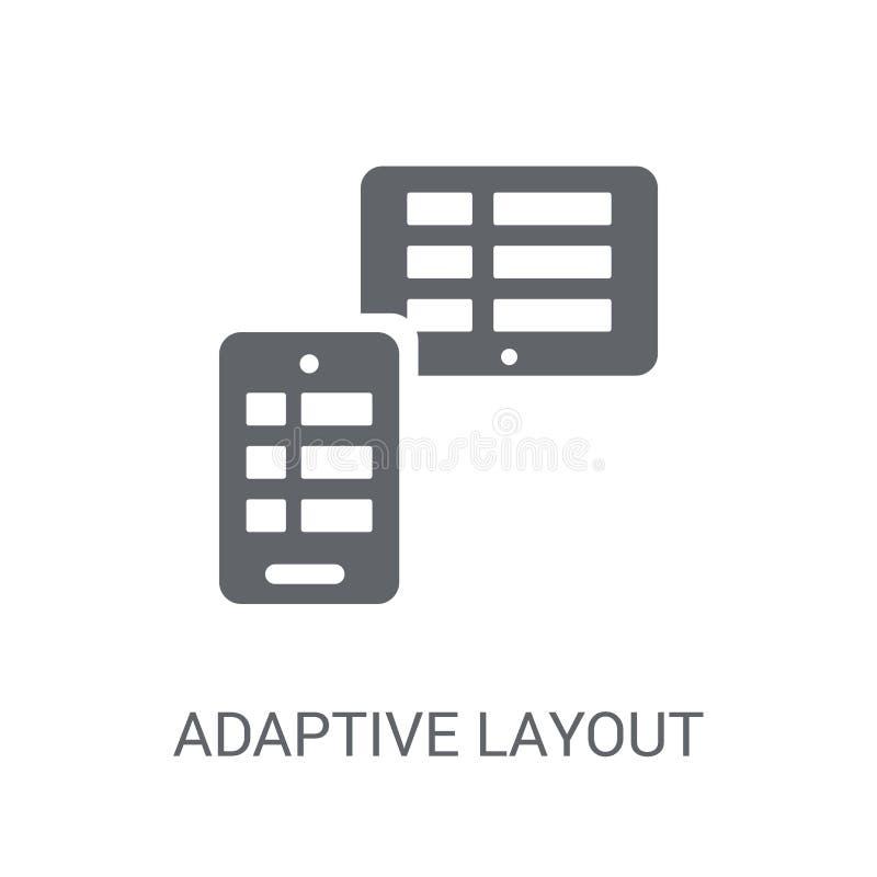 Ícone adaptável da disposição  ilustração royalty free