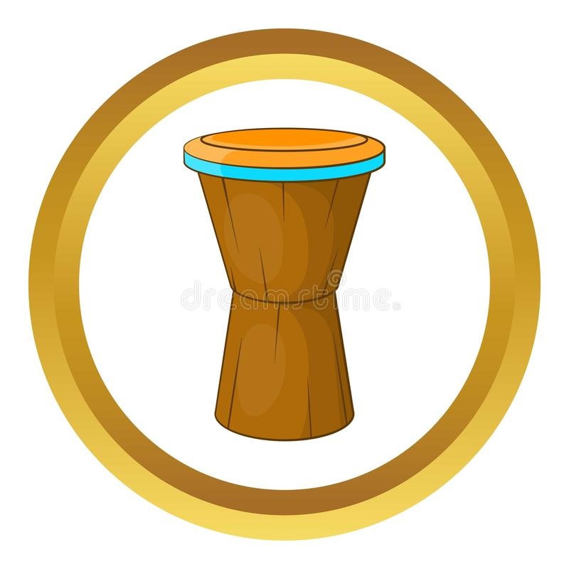 Ícone africano do cilindro ilustração royalty free