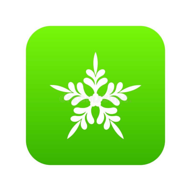 Ícone aguçado da estrela cinco, estilo simples ilustração stock