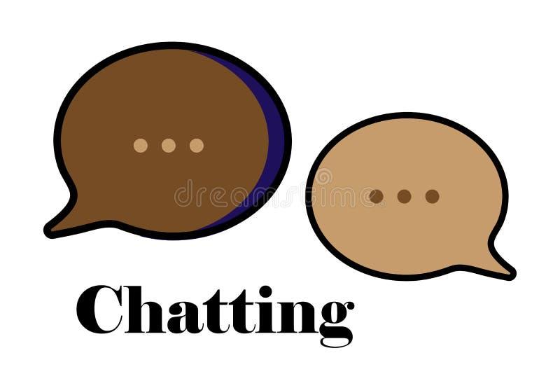 Ícone ajustado da mensagem do bate-papo ilustração stock