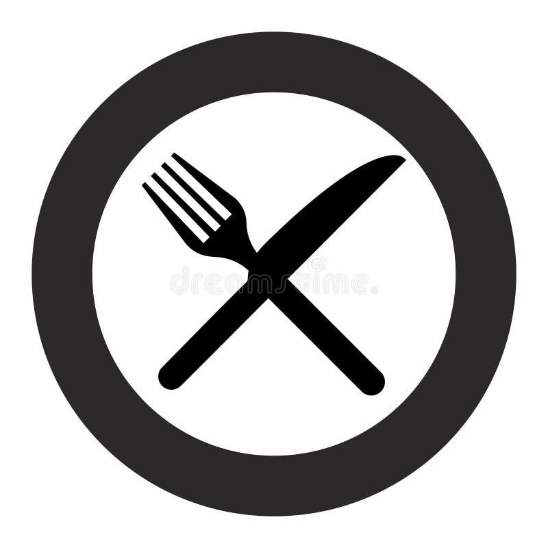 Ícone ajustado do vetor do equipamento do restaurante da cozinha da cutelaria ilustração royalty free