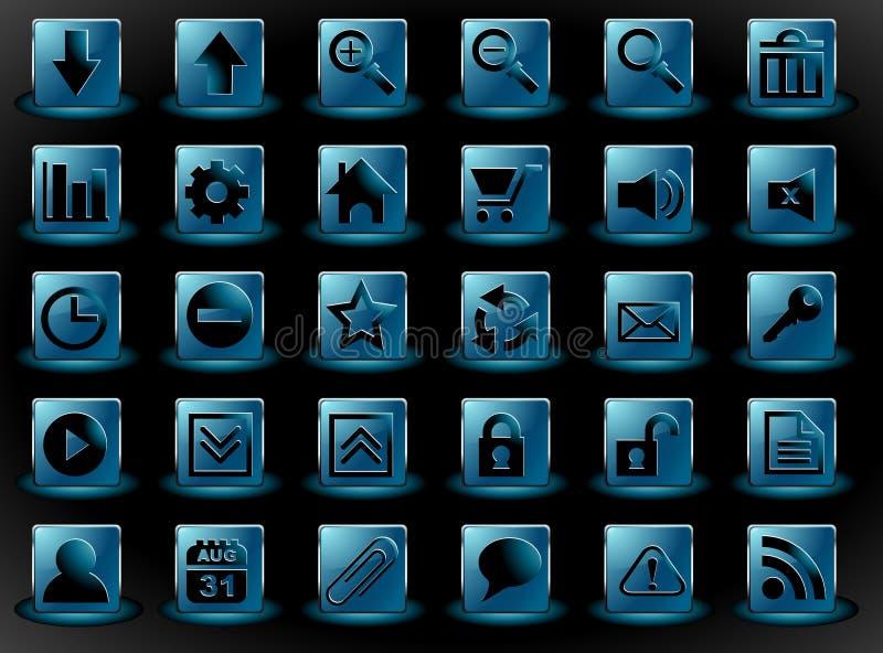 Ícone ajustado para a relação da Web ilustração royalty free